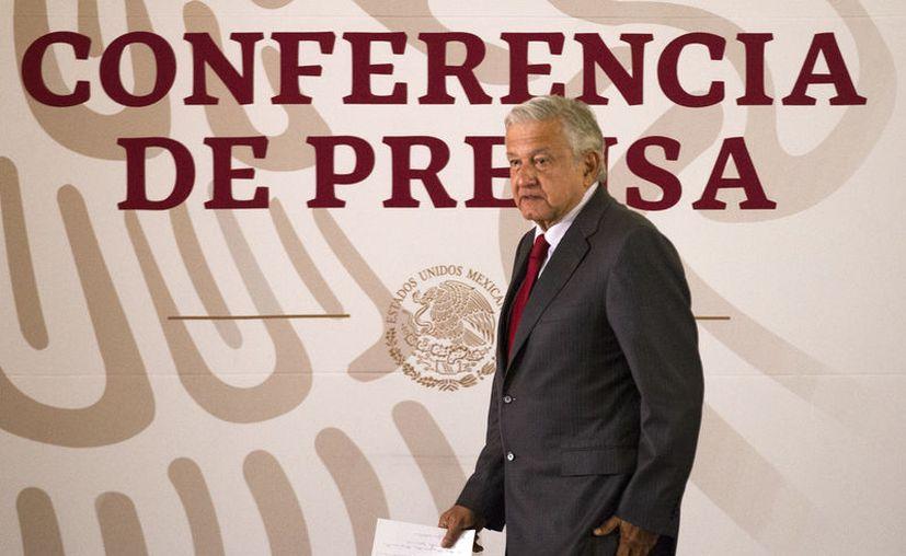 El presidente Andrés Manuel López Obrador indicó durante su conferencia de prensa matutina en Palacio Nacional (Foto: Notimex/José Pazos)