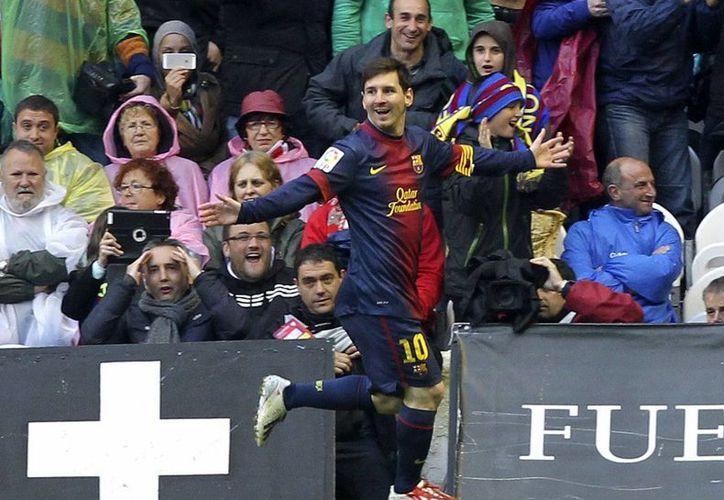 El delantero argentino del FC Barcelona, Lionel Messi, ha roto muchos y muy valiosos récords.  (EFE)