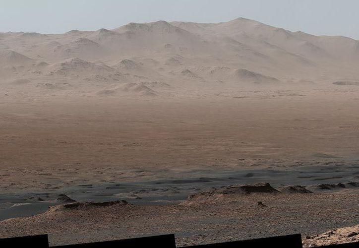 """La instantánea fue tomada desde """"Vera Rubin Ridge"""". (NASA)"""