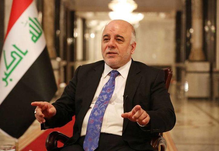 """""""No solo no es necesario"""", declaró. """"No los queramos, no lo permitiremos. Punto"""", dijo enfático el primer ministro de Irak, Haider al-Abadi, sobre la posibilidad de que Estados Unidos envíe nuevamente soldados a ese país para combatir al EI. (The Associated Press)"""
