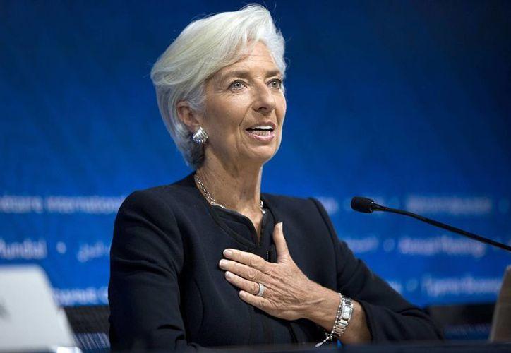 Christine Lagarde estaría otro período de cinco años al frente del Fondo Monetario Internacional. (AP)