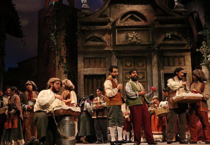La presentación de la opera Caballería Rústica, en una función previa para los medios de comunicación(Foto:Daniel Sandoval/Novedades Yucatán)
