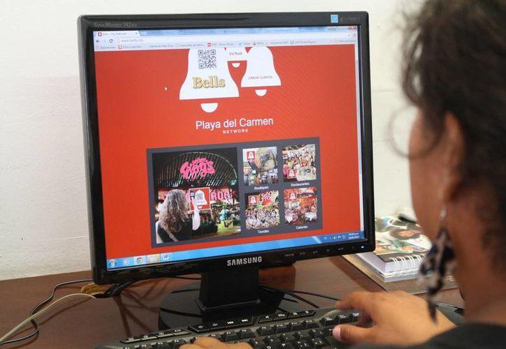 La Canaco presentó ayer la aplicación 'Bell', para promocionar a sus afiliados. (Adrián Barreto/SIPSE)