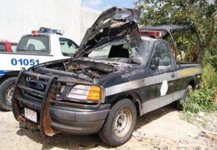 Fueron ingresadas las primeras patrullas al taller de Servicios Públicos. (Redacción/SIPSE)