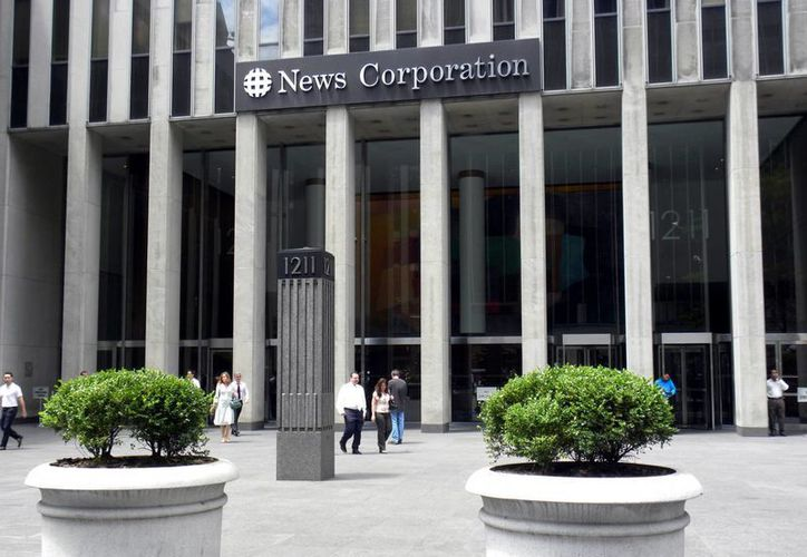 Fachada de la firma News Corporation en un sector de Nueva York. (EFE)