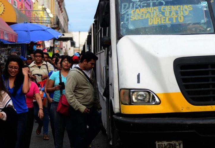 Las unidades de las nuevas rutas esperaban hasta 10 minutos en sus paraderos. (Luis Pérez/SIPSE)