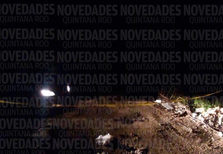 Hallan cuerpo sin vida en un fraccionamiento de Cancún.  (Foto: Eric G.)