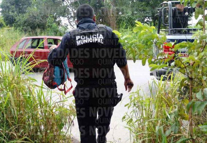La delincuencia trata de desacreditar el trabajo del policía. (Eric Galindo/SIPSE)