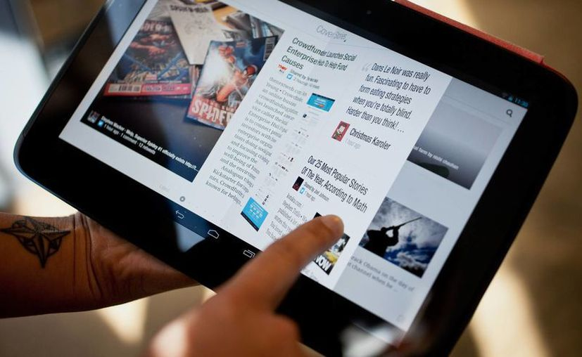 Hay unas quince tabletas disponibles para rentar en el Tablette Café. (wired.com)