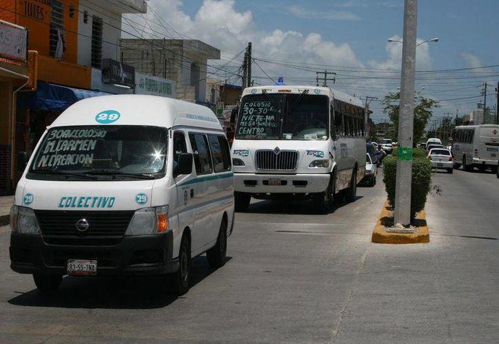 Transportistas se verían afectados con el ingreso de otra empresa. (Adrián Barreto/SIPSE)