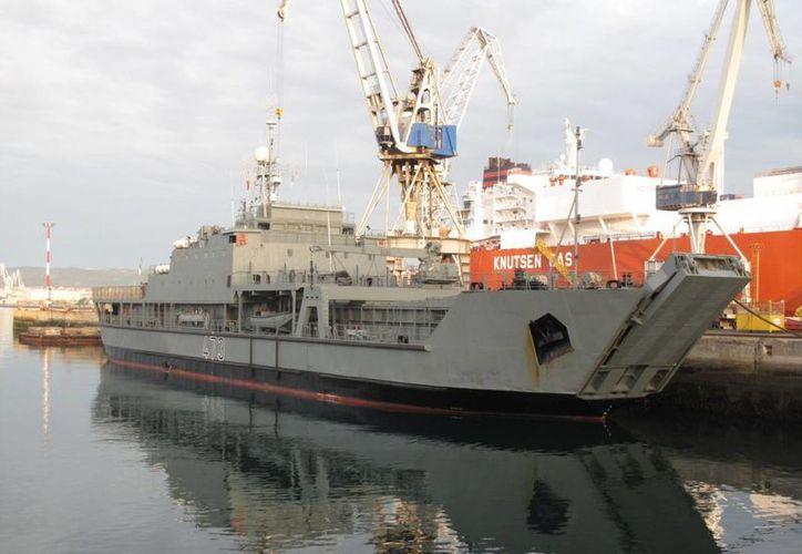Pemex daría más de mil empleos en astilleros de Galicia, España. En la imagen, un navío perteneciente a la empresa Navantia, una de las beneficiadas por la inversión mexicana. (navantia.es)