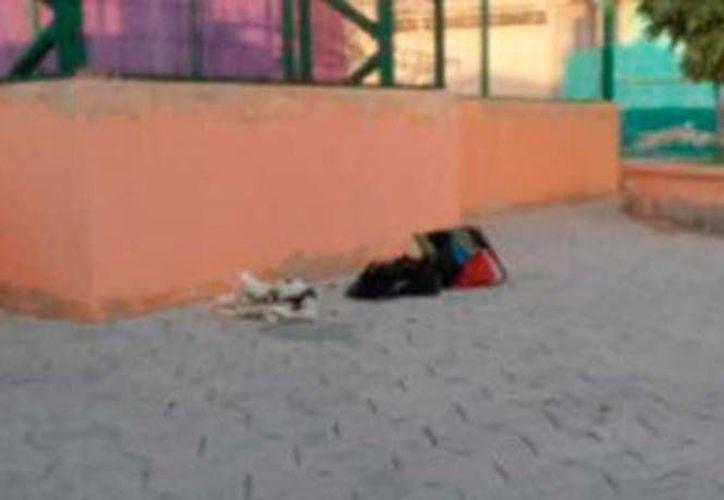 Imagen de las bolsas donde fueron encontradas las cabezas de dos mujeres en San Luis Potosí. (excelsior.com.mx)
