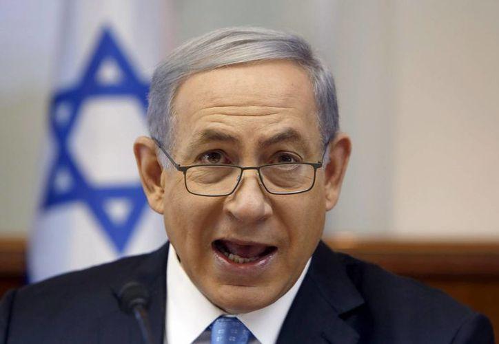 Benjamin Netanyahu acusó al grupo Hamás de usar a la población palestina como escudos humanos en los ataques que lanza el Ejército de Israel en la Franja de Gaza. (EFE)