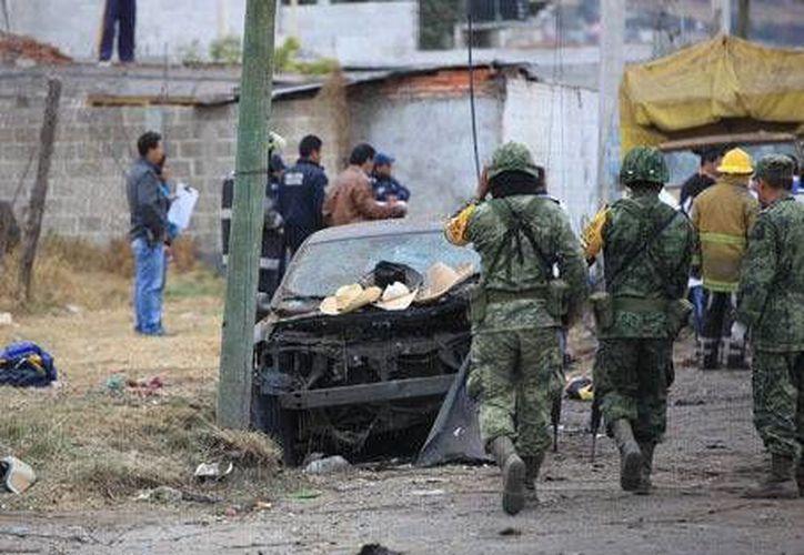 Elementos del Ejército llegaron al lugar de la explosión. (Andrés Lobato/Milenio)