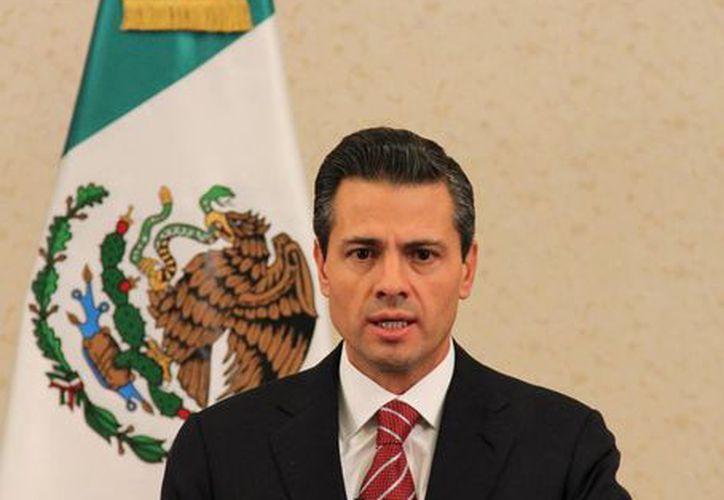 El presidente, Enrique Peña Nieto, dio cuenta de que México se ha venido consolidando como un destino seguro a las inversiones. (Notimex)