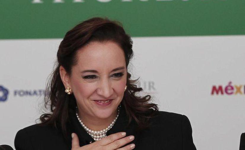 La secretaria de Turismo, Claudia Ruiz Massieu, advirtió que la competencia internacional es intensa. (Archivo/Notimex)