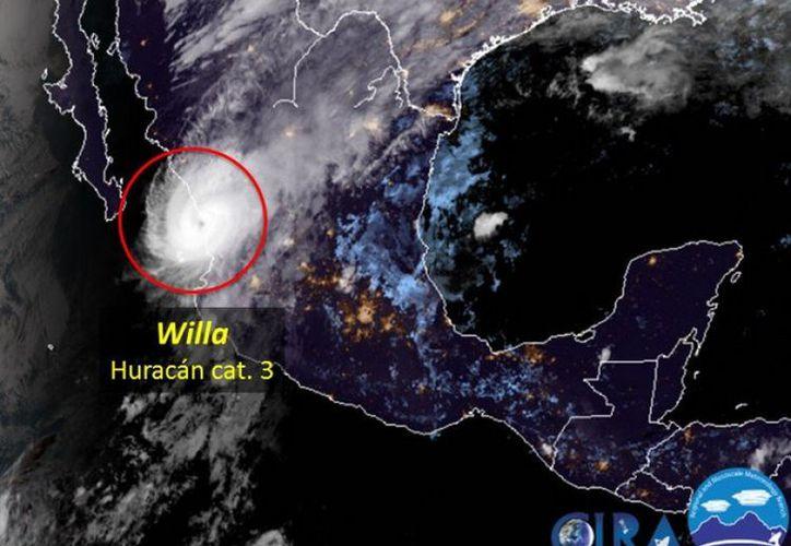 Los vientos huracanados de Willa se extenderán hacia el área montañosa de la zona centro-occidental del país. (Internet)