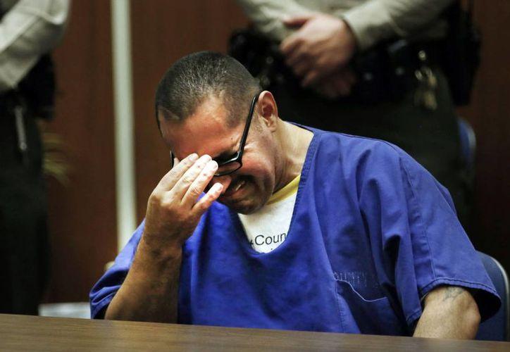 Después de escuchar que sería exonerado, Luis Lorenzo Vargas estalló en llanto. (Notimex)