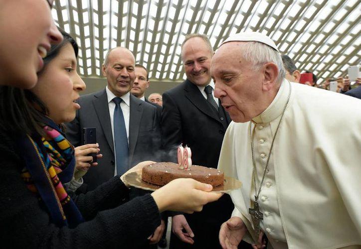 El Papa Francisco celebró hoy su cumpleaños número 80. (AP)