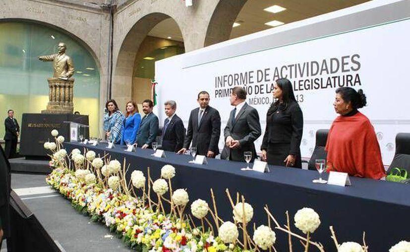 Cordero presumió los logros del Senado en este año. (Twitter.com/@senadomexicano)