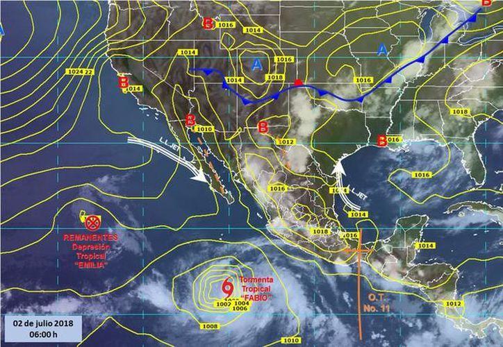 El fenómeno natural favorece entrada de humedad hacia el occidente del país. (expansion.mx)
