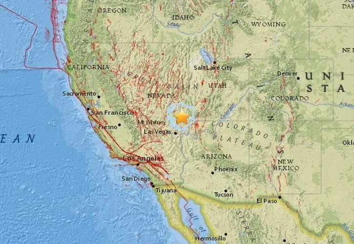 El movimiento telúrico fue reportado a las 11:47 horas cerca de la frontera de Nevada con Utah y tuvo replicas casi inmediatas. (earthquake.usgs.gov)