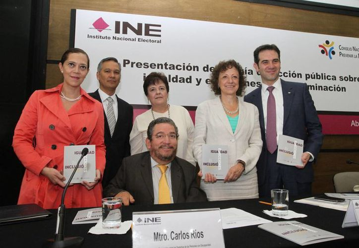 La Guía de Acción Pública sobre Igualdad y Elecciones sin Discriminación fue presentada en el INE. (Notimex)