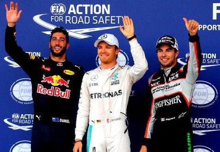Sergio Pérez realizó su mejor carrera de pruebas durante toda su estancia en la Fórmula Uno. (AP)