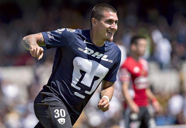 Con dos anotaciones del chileno Nicolás Castillo(foto), Pumas logró empatar  3-3 ante los Xolos de Miguel Herrera.(Jam media)