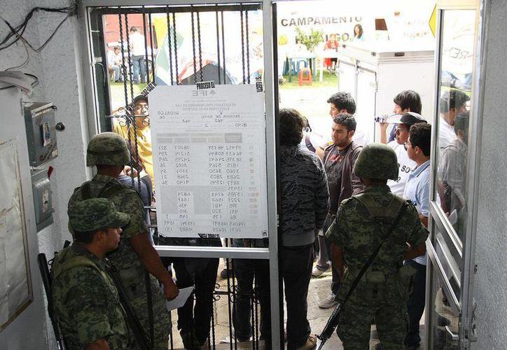 Garantizan seguridad durante la jornada electoral. (Archivo/Notimex)