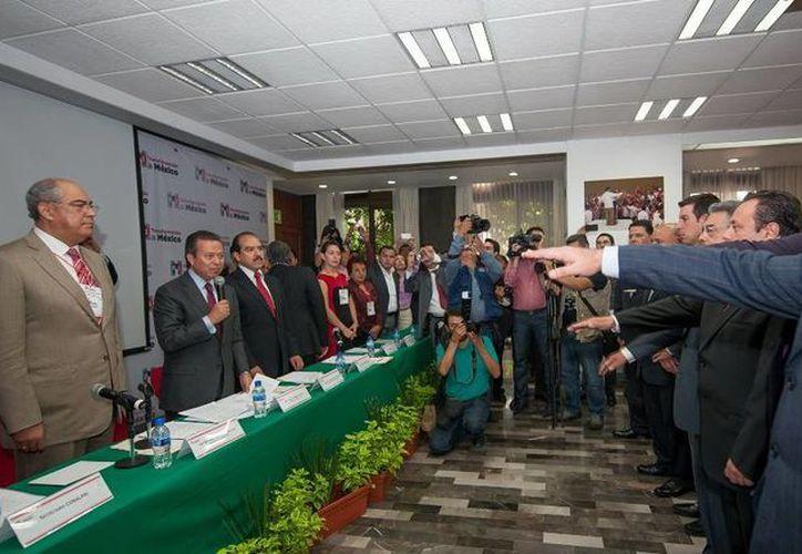 Luis Hevia protestó como nuevo vicepresidente del CEN priista. (Cortesía)