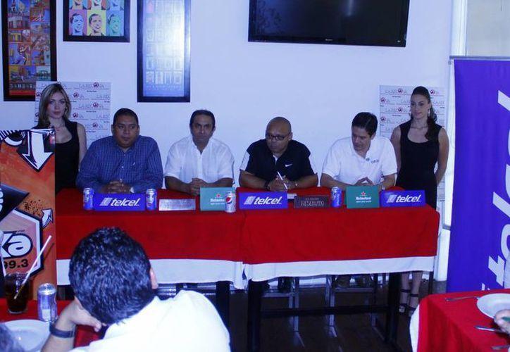 Rueda de prensa sobre el torneo. (Juan Albornoz/SIPSE)