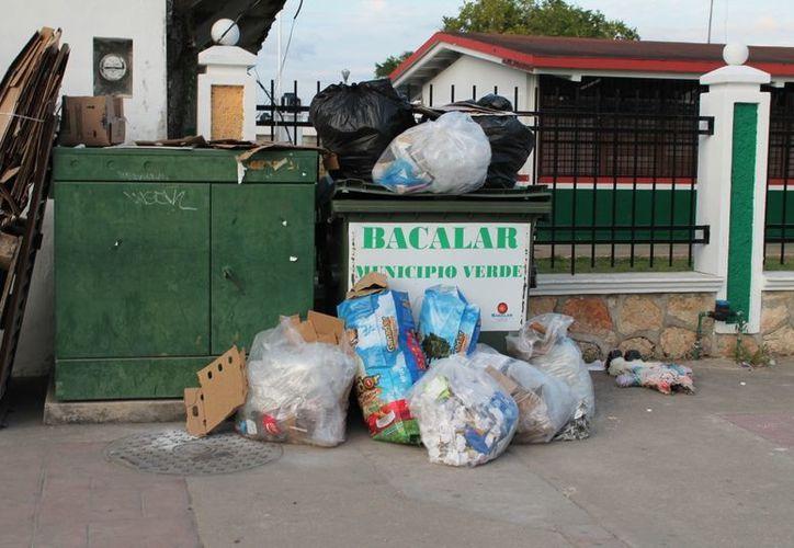 Aseguran que existen solamente 10 contenedores en todo el municipio de Bacalar. (Juan Carlos Gómez/SIPSE)