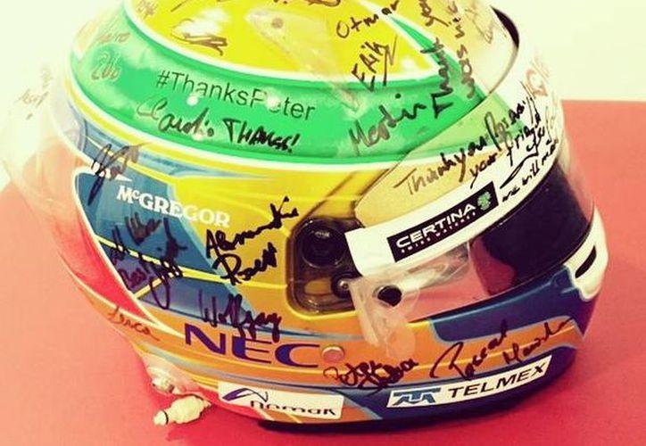 En Facebook, Esteban agradeció a la escudería Sauber por permitirle ser parte del equipo. (Facebook/Esteban Gutiérrez)