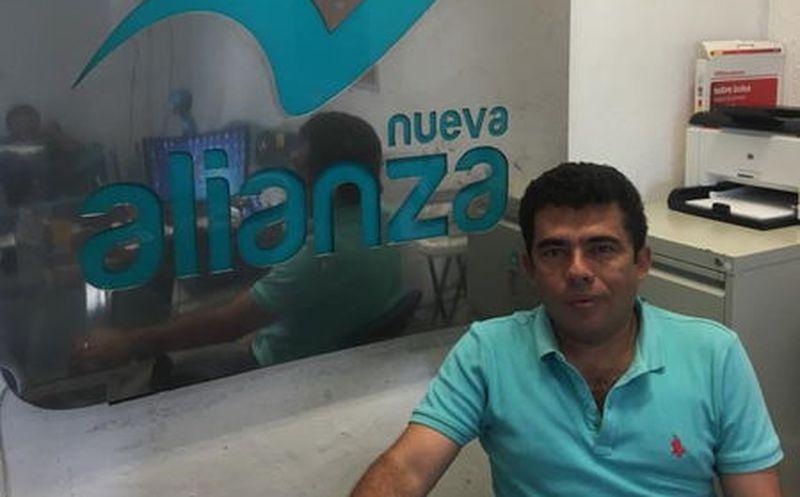 Raúl Ernesto Sosa Alonzo, presidente estatal del Partido Nueva Alianza. (Milenio Novedades)