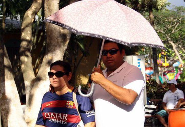 El domingo se registró una temperatura máxima de 34.4 grados en Mérida. (Milenio Novedades)