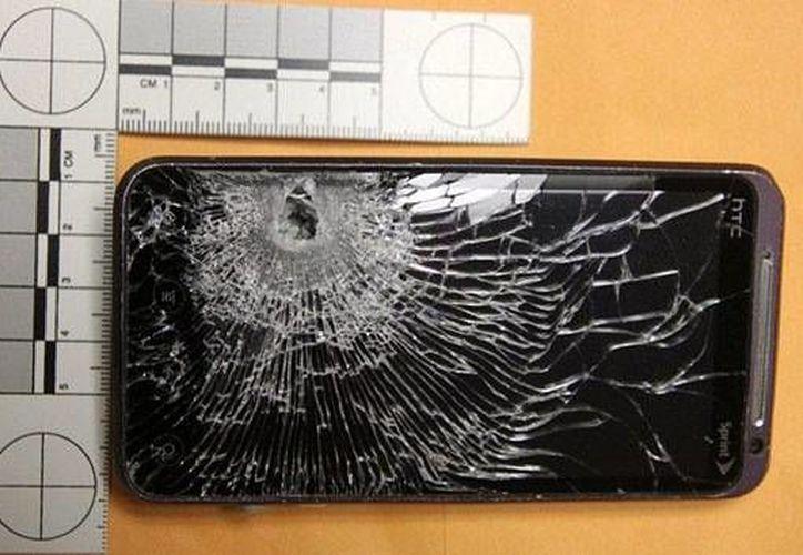 EL smartphone quedó totalmente destrozado. (wgpd.com)