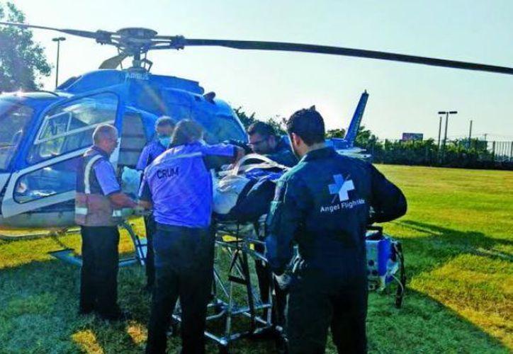Por la gravedad de las lesiones fue trasladada en helicóptero a la Ciudad de México. (Foto: El Debate)