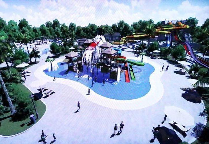 El parque acuático se prevé tendrá una capacidad para dos mil 500 usuarios. (Milenio Novedades)