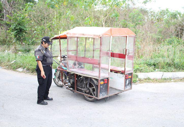 El accidente involucró a uno de los llamados mototaxi. (SIPSE)