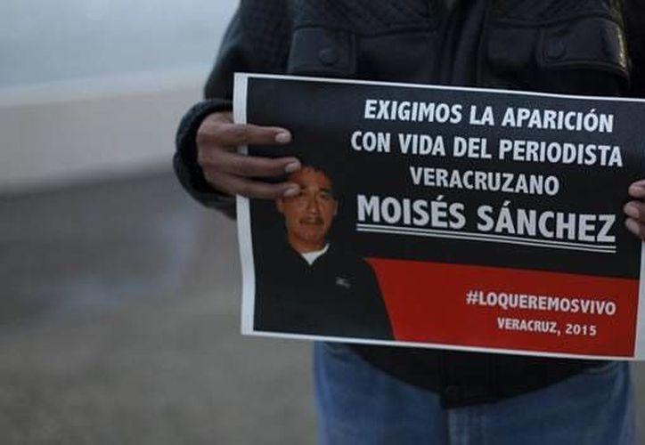 La desaparición del periodista Moisés Sánchez provocó manifestaciones en todo el estado de Veracruz. (CNNMéxico)