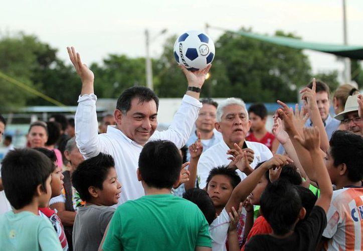 El secretario de Gobierno, Víctor Caballero, destaca el deporte, para el combate a la violencia y delincuencia. (Milenio Novedades)
