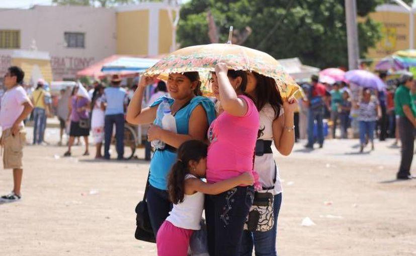 El único día que había hecho más calor que este lunes en Mérida, en un mes de julio,  fue en 1992. Hoy la temperatura llegó a los 40. 2 grados. (SIPSE)