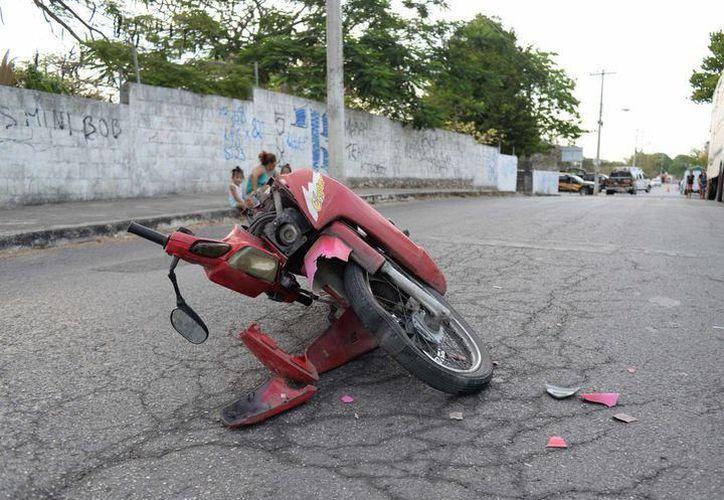 El accidente en motociclista ocurrió en 2014. (SIPSE)