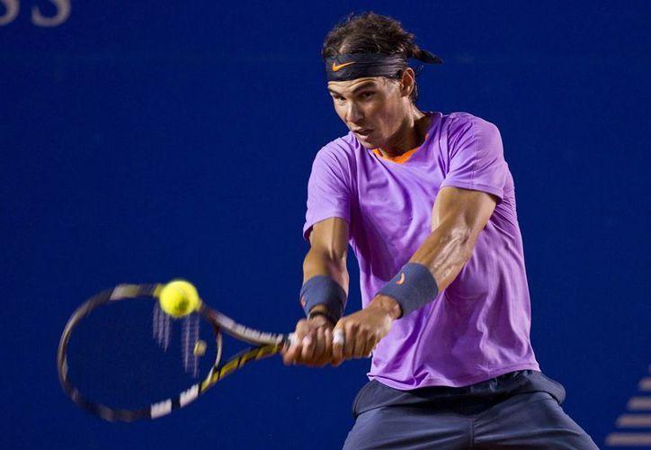 Nadal, segundo favorito en Acapulco, juega su tercer torneo luego de regresar de una lesión en la rodilla. (Agencias)