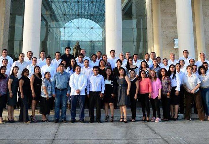 Abogados que tomaron el taller sobre el nuevo Sistema de Justicia Acusatorio y Oral. (Milenio Novedades)