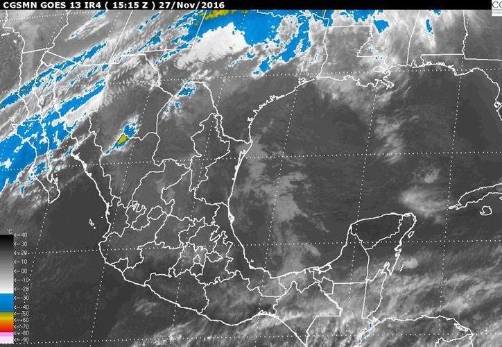 El frío número 10 avanzará sobre el norte de México este domingo, ocasionando un descenso de las temperaturas, pronosticó el Servicio Meteorológico Nacional (SMN).(Conagua)