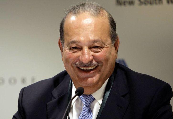 Imagen del 29 de septiembre de 2010 de Carlos Slim, durante una conferencia de Prensa. América Movil anunció el 18 de enero de 2017, que Slim lanzará el canal de Tv Nuestra Visión, en Estados Unidos. (AP/Jeremy Piper)