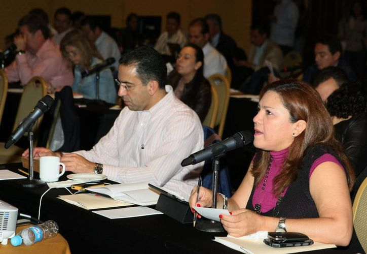 La senadora Rosa Adriana Díaz Lizama en sesión en la Cámara Alta. (Cortesía)
