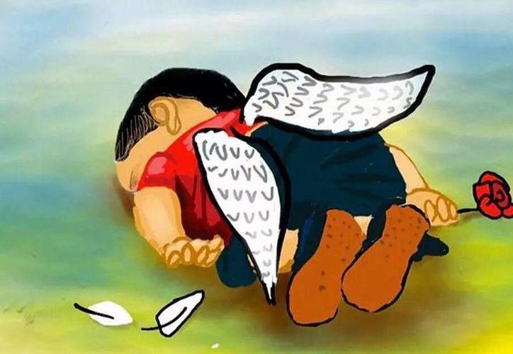 El pequeño Aylán se ha convertido en un ícono de la tragedia de los inmigrantes de Oriente Medio que intentan llegar a Europa. (Twitter.com/@MiaSanMia2013)